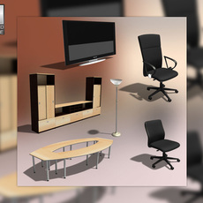 Office Set 24s 3D Model