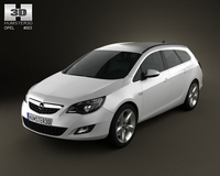 Opel Astra Tourer 2011 3D Model