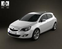 Opel Astra 2011 3D Model