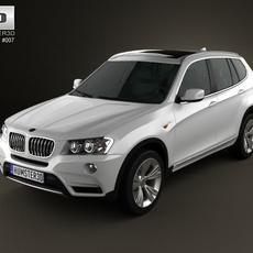 BMW X3 2011 3D Model