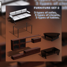 Furniture set 02s 3D Model