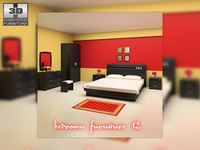 Bedroom Furniture 12 Set 3D Model