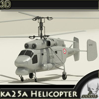 ka25a Helicopter 3D Model