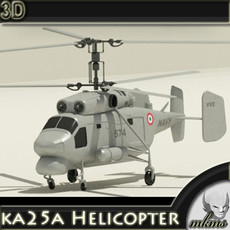 ka25a Helicopter 3D Model