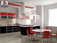 Kitchen P4 set 3D Model
