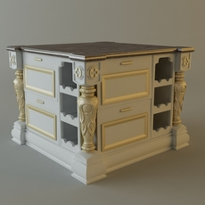 Kitchen cabinet bar 3D Model