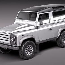 Land Rover Defender 2011 x-tech short 3D Model