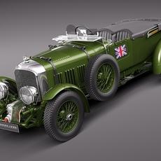 Bentley 4,5 litre Blower 1929 3D Model