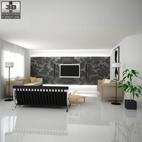Home Theater set 02 3D Model