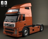 Volvo Tractor FM 3D Model
