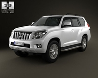 Toyota Land Cruiser Prado 5door 2010 3D Model