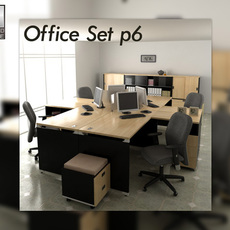 Office set p06 3D Model