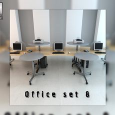 Office set p08 3D Model