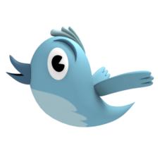 Twitter Bird 3D Model