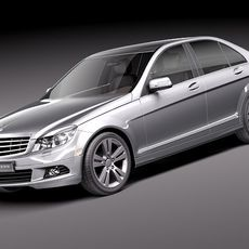 Mercedes C 300 2011 sedan USA midpoly 3D Model