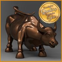 Bull Statue 3D Model