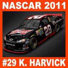Nascar 2011 Car - Kevin Harvick Chevrolet Impala #29 3D Model