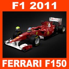 F1 2011 Ferrari F150 - Scuderia Ferrari Marlboro 3D Model
