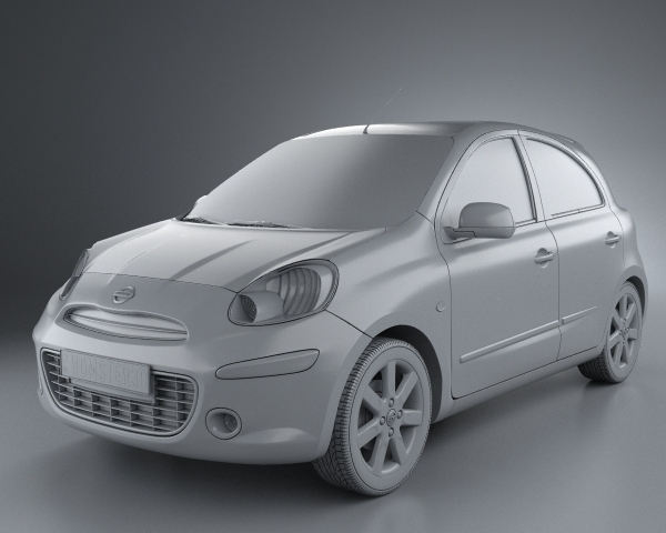 nissan micra march 2011 3d model. Black Bedroom Furniture Sets. Home Design Ideas