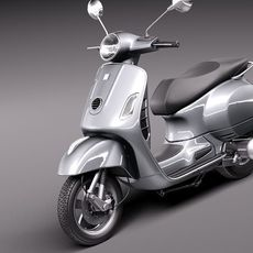 Vespa GTS 300 Super 2011 3D Model
