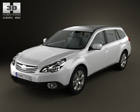 Subaru Outback 2010 3D Model