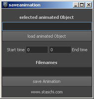 saveanimation 1.0.0 for Maya (maya script)