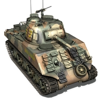 M4A3 Sherman - US Marines - Pacific 3D Model