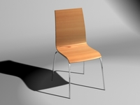 Tierra Bent Wood Chair 3D Model