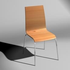Tierra Bent Wood Chair 3D Model