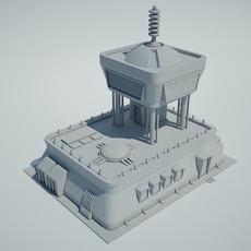 Futuristic Sci Fi Building 3 3D Model