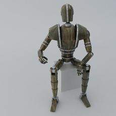 Jointed Wooden Dummy 3D Model