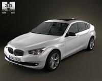 BMW 5 series GranTurismo 2010 3D Model
