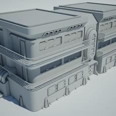 Futuristic Sci Fi Building 7 3D Model