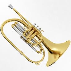 Mellophone 3D Model