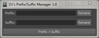 Free OJ's Prefix and Suffix Manager for Maya 1.0.0 (maya script)