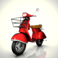 Vespa Scooter Rig 1.1.0 for Maya