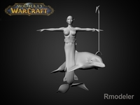 Mermaid April 3D Model