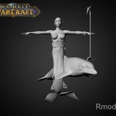 Mermaid April 3D Model