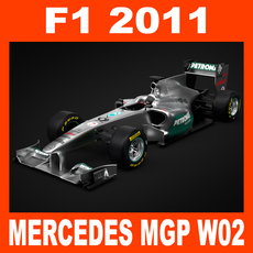 F1 2011 Mercedes MGP W02 - GP Petronas Team 3D Model
