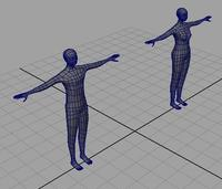 Free BASIC man and woman mesh 3D Model