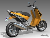 Albura Concept Scooter  3D Model