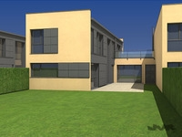 Attached House  3D Model