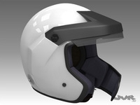 Rally Car Helmet 2 3D Model