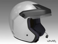 Rally Car Helmet 3D Model