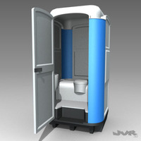 Portable WC 3D Model
