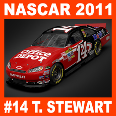 Nascar 2011 Car - Tony Stewart Chevrolet Impala #14 3D Model