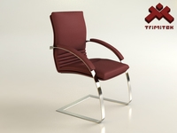 Office Client Chair 3D Model