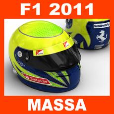 F1 2011 Felipe Massa Helmet 3D Model