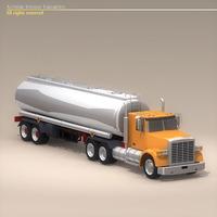 US Tanker Truck 3D Model