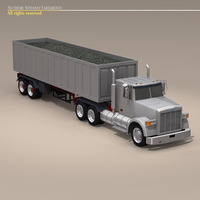 Us construction truck 3D Model